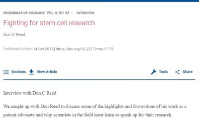Fighting for stem cell research