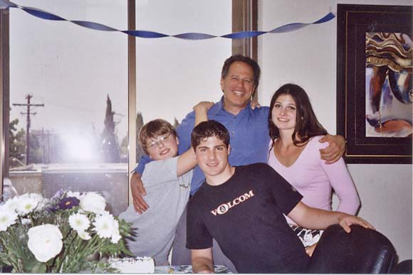 Bob Klein at his happiest: with sons Jordan and Robert, and daughter Lauren